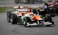 Гран При Малайзии  2012 г воскресенье 25  марта Пол ди Реста Sahara Force India F1 Team