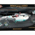 Mercedes-Benz W02, showcar, 20-th anniversary, M. Schumacher, 1:18