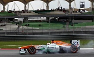 Гран При Малайзии 2013г. Суббота 23 марта третья практика Пол ди Реста Sahara Force India F1 Team