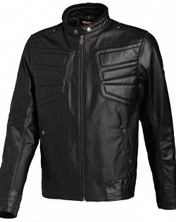 Куртка мужская Leather Jacket Rider black,